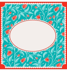 Template for greeting card or invitation vector