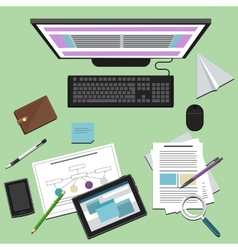 Concept of business workplace vector