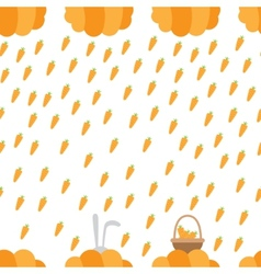 Carrot rain vector