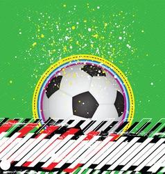 Grunge design soccer background vector