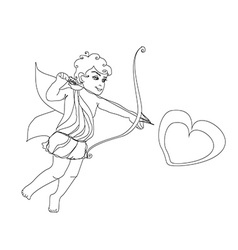 Little cupid is ready to shoot love arrow vector