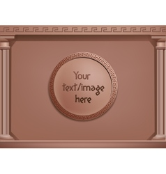 Brown greek style background concept you vector