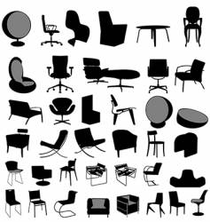 Chairs collection vector