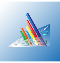 Progressive bar chart abstract vector