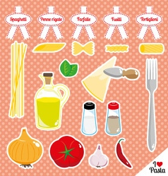 I love pasta vector