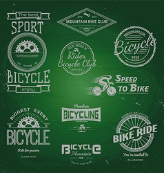 Bicycle badges logos and labels for any use vector