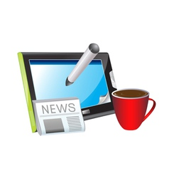 Morning news vector