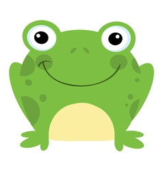 Smiling frog vector