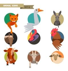 Farm animals avatars vector