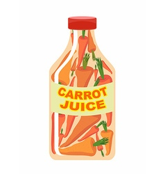 Carrot juice juice from fresh vegetables carrots vector