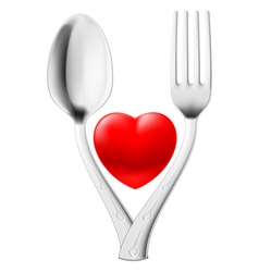 Spoon and fork vector