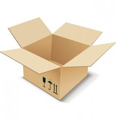 Cardboard box vector