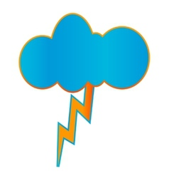 Creative geometric thunderstorm icon vector