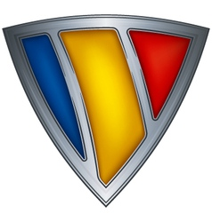 Steel shield with flag chad vector