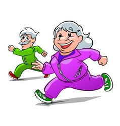 Elderly athletes vector