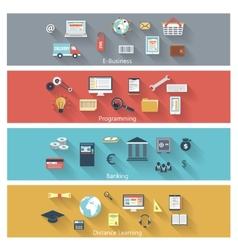 Set of modern concepts in flat design vector