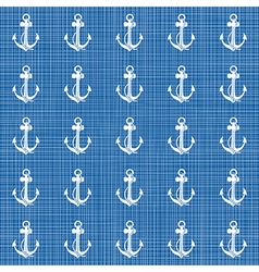 Blue nautical pattern vector