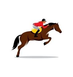Horse at jumping sign vector