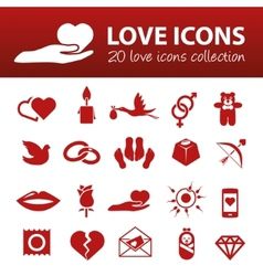 Love icons vector