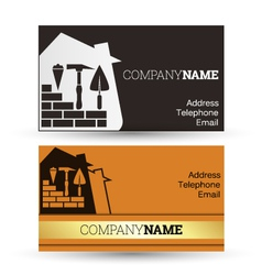 Business card construction vector