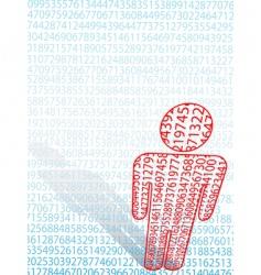 Maths man symbol vector