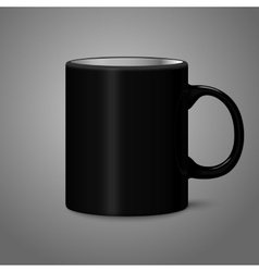 Blank black photo realistic isolated on gray cup vector