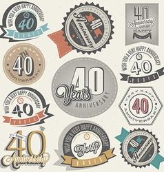 Vintage design elements and emblems vector