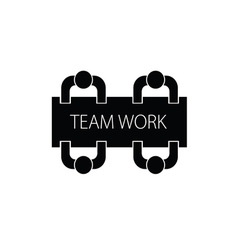 Team work with people icon vector