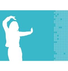 Female dancing vector