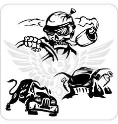 Symbols set for trucks and cars vector