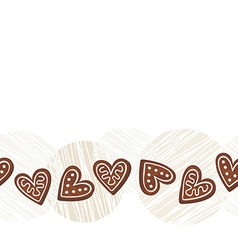 Gingerbread border vector