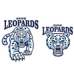 Snow leopard mascot vector