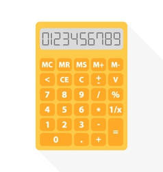Yellow calculator vector