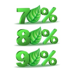 Spring percent discount icon vector