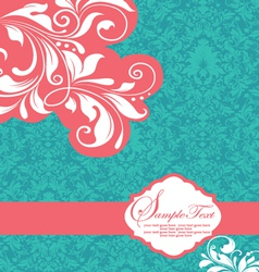 Floral invitation card with place for text vector