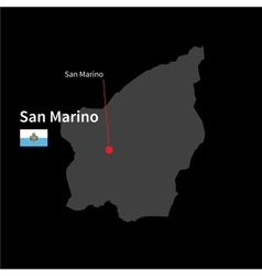 Detailed map of san marino and capital city san vector