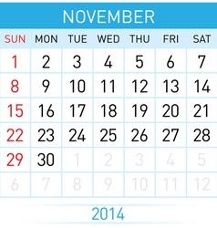 Calendar month vector
