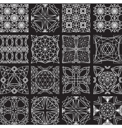 Seamless pattern from diamond cutting on black vector
