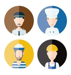 Men profession icons vector