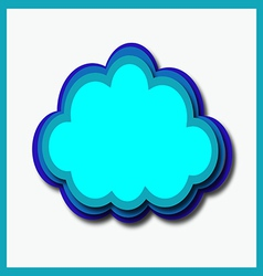 Computer cloud vector
