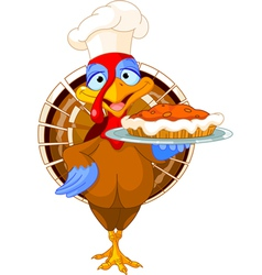 Turkey and pie vector