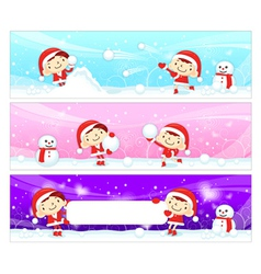 Snowball play couples snowman mascot vector
