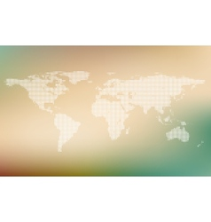 Stylized map of world world map concept on vector