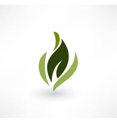 Leaf icons eco concept logo design vector