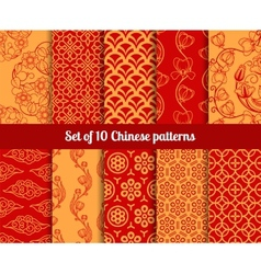 Chinese seamless patterns vector