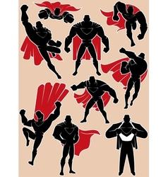 Superhero in action vector
