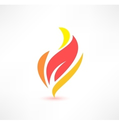Fire icon the energy concept logo design vector