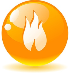 Flame icon vector