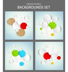 Set of backgrounds vector