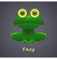 Funny green frog vector